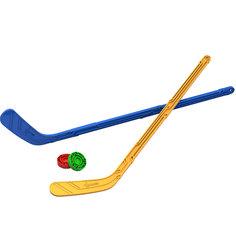 Набор Юный хоккеист (2 клюшки + 2 шайбы), NORDPLAST Нордпласт