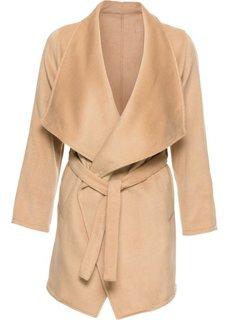 Пальто с поясом (черный) Bonprix