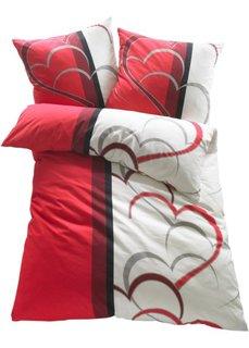 Постельное белье Амели, фланель (красный) Bonprix