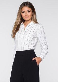 Блузка (белый/черный в полоску) Bonprix