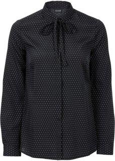 Блузка (кремовый/черный в полоску) Bonprix