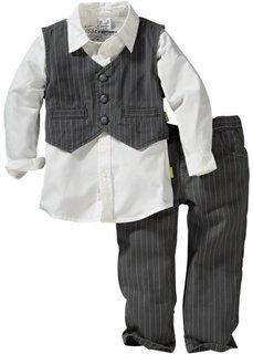 Рубашка + жилет + брюки (3 изд.) (темно-синий/белый) Bonprix