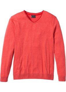 Пуловер Regular Fit с кашемиром (сине-зеленый) Bonprix