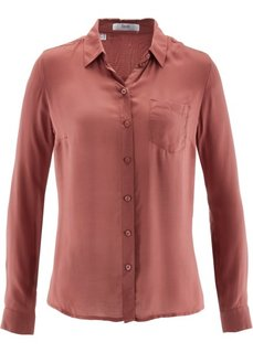 Рубашка с длинным рукавом (красный) Bonprix