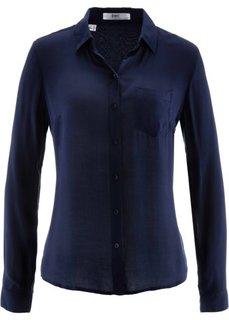 Рубашка с длинным рукавом (бордовый) Bonprix