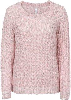 Пуловер с пайетками (серый/кремовый меланж) Bonprix