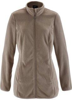 Флисовая куртка (черный) Bonprix