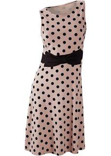 Платье (нежная фуксия/черный в горошек) Bonprix