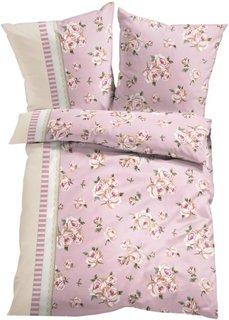 Постельное белье Лара, линон (розовый) Bonprix