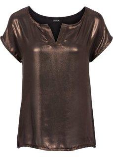 Блестящая футболка (виноградный блестящий) Bonprix