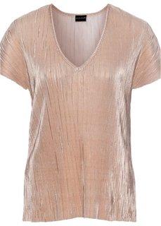 Жатая футболка с металлическим отливом (серебристый) Bonprix