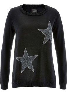 Пуловер с длинным рукавом (серый меланж) Bonprix