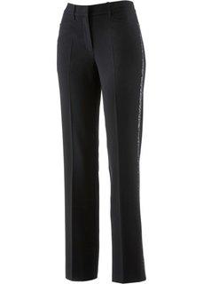 Стрейтчевые брюки с пайетками (темно-красный) Bonprix