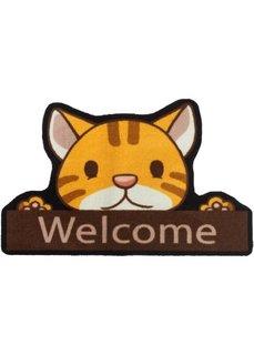 Дверной коврик Мяу (коричневый) Bonprix