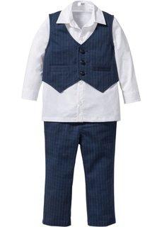 Рубашка + жилет + брюки (3 изд.) (антрацитовый/белый) Bonprix