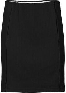 Трикотажная юбка (серо-коричневый) Bonprix