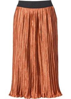 Плиссированная юбка (синий) Bonprix