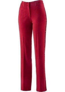 Стрейтчевые брюки с пайетками (черный) Bonprix