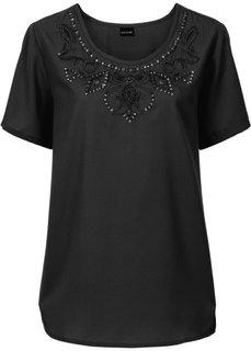 Блузка с прорезями (темно-лиловый) Bonprix