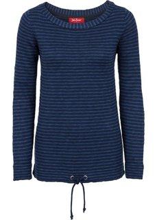 Пуловер с длинным рукавом (черный/белый) Bonprix