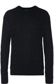 Шерстяной свитер фактурной вязки Polo Ralph Lauren