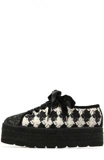 Текстильные ботинки с глиттером Baldan