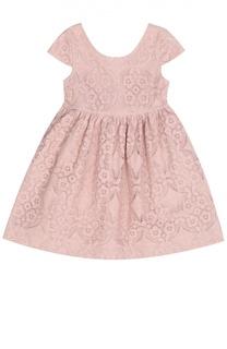 Кружевное приталенное платье Burberry