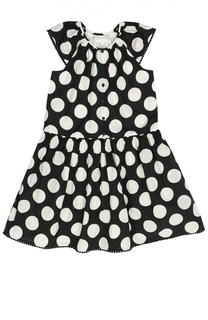 Приталенное платье в горошек Burberry