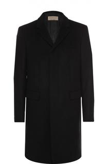 Однобортное пальто из смеси шерсти и кашемира с потайными пуговицами Burberry
