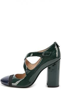 Лаковые туфли на устойчивом каблуке Tory Burch