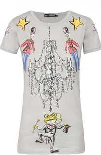 Хлопковая футболка с ярким принтом Dolce & Gabbana