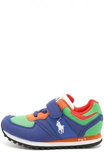 Комбинированные кроссовки с застежками велькро Polo Ralph Lauren
