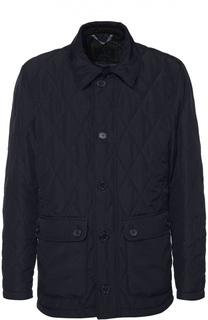 Утепленная стеганая куртка на молнии и отложным воротником Paul&Shark Paul&Shark