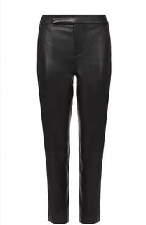 Укороченные кожаные брюки-скинни Polo Ralph Lauren