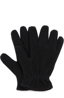 Флисовые перчатки с логотипом бренда Moncler Enfant