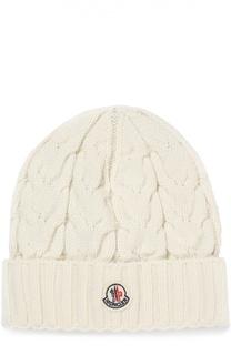 Вязаная шапка с фактурным узором Moncler Enfant