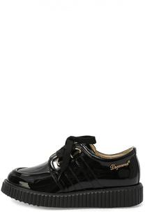 Лаковые ботинки на массивной подошве Dsquared2