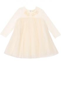 Платье с декором Monnalisa