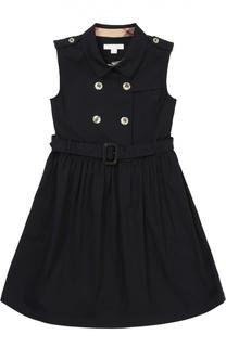 Платье-рубашка без рукавов с поясом Burberry