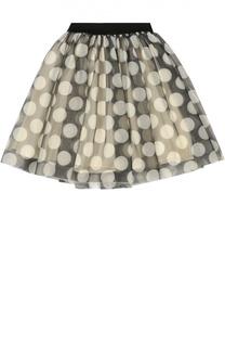 Пышная юбка с полупрозрачной отделкой Monnalisa