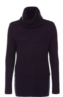 Шерстяной свитер фактурной вязки с высоким воротником Diane Von Furstenberg