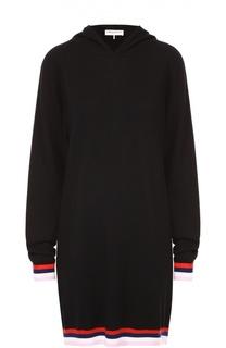 Удлиненное платье с контрастной отделкой и капюшоном Emilio Pucci