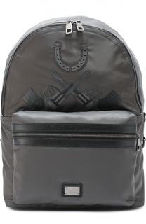 Рюкзак Vulcano с нашивками и отделкой из натуральной кожи Dolce & Gabbana