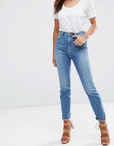 Синие джинсы из стираного денима в винтажном стиле ASOS FARLEIGH - Синий