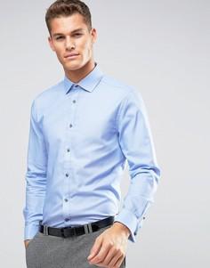 Фактурная рубашка классического кроя Burton Menswear - Черный