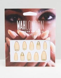 Накладные ногти WAH London & ASOS - Royal Nude - Бежевый