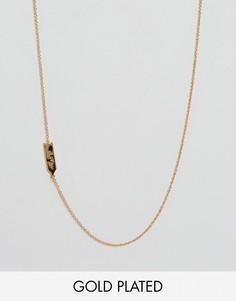 Ожерелье со знаком зодиака Лев Gorjana - Золотой