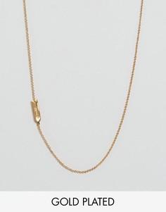 Ожерелье со знаком зодиака Близнецы Gorjana - Золотой