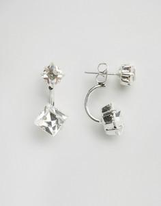 Серьги с кристаллами Swarovski от Krystal - Черный