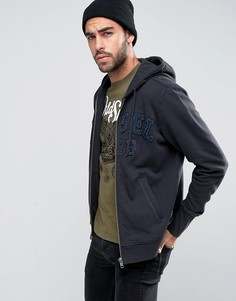 Свитшот с джинсовой аппликацией-логотипом Diesel S-Joe-Hood-LT - Черный